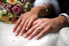 wedding couples hands
