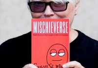 Suzan St Maur with her book of naughty, rude poetry!